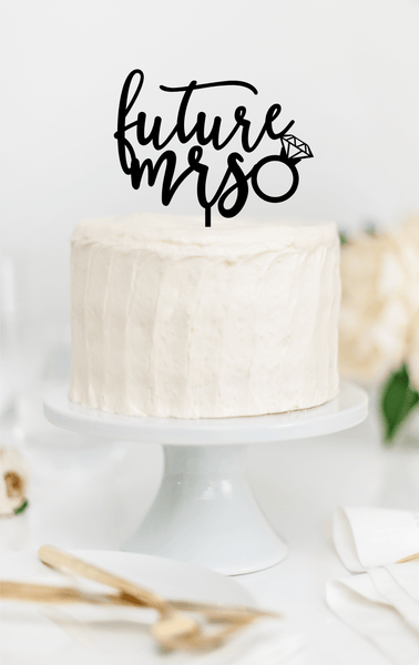 Future Mrs Bridal Shower Cake Topper