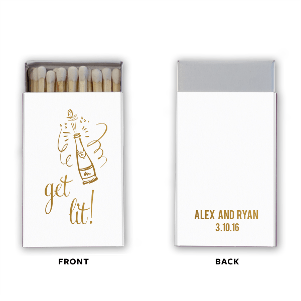 Get Lit Personalized Matchbooks