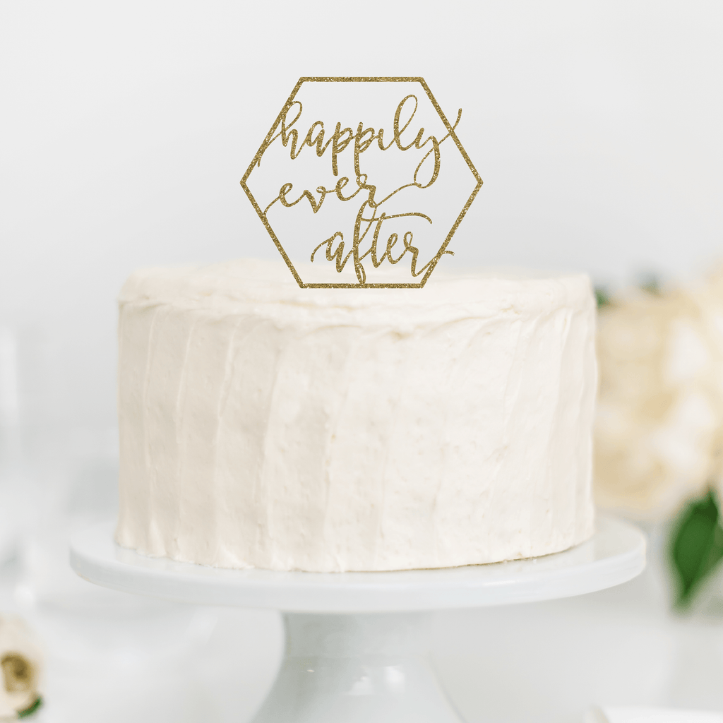 Happily Ever After Wedding Cake Topper