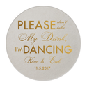 Please Don't Take My Drink Personalized Wedding Coaster