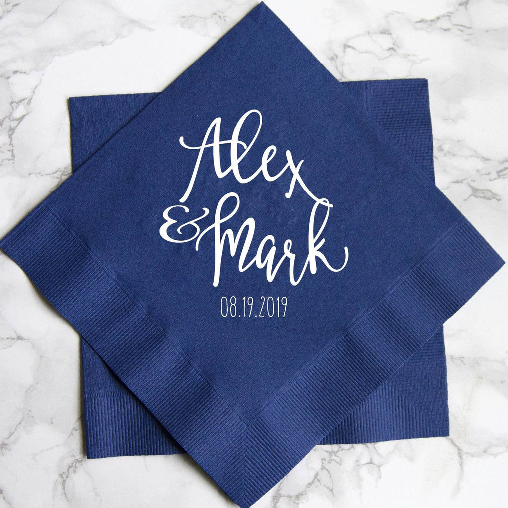 First Names Personalized Wedding Napkins