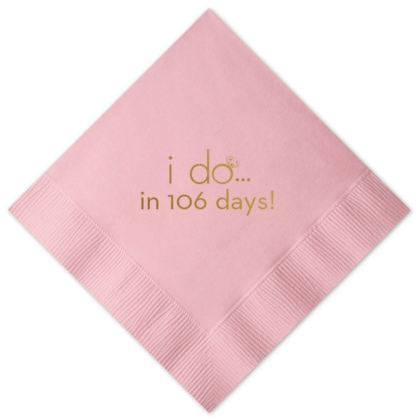 I Do Countdown Bridal Shower Napkins