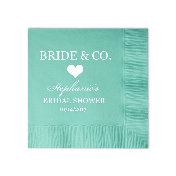 Bride and Co Personalized Bridal Shower Napkins