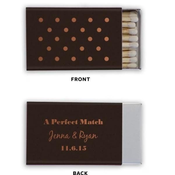 A Perfect Match with Polka Dots Personalized Matchbooks
