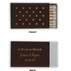 Matchbooks - A Perfect Match With Polka Dots Personalized Matchbooks