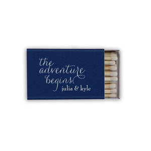 Matchbooks - And The Adventure Begins Personalized Matchbooks