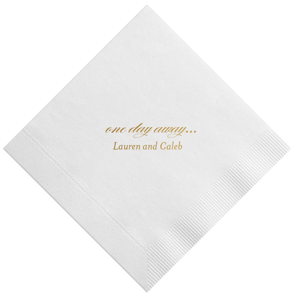 One Day Away Custom Rehearsal Dinner Napkins
