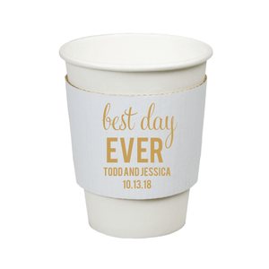 Personalized Wedding Cup - Best Day Ever Wedding Coffee Cups
