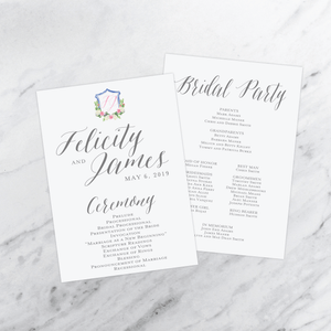 Ceremony Program - Ceremony Programs (Flat) | The Felicity Wedding Collection