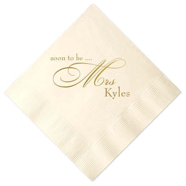 Soon to Be Mrs Personalized Bridal Shower Napkins