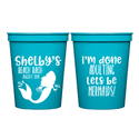 Let's Be Mermaids Bachelorette Weekend Cups