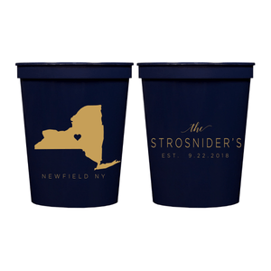 Stadium Cups - State Love Personalized Wedding Stadium Cups