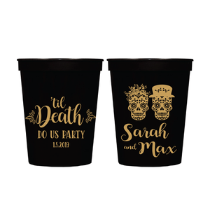 Stadium Cups - Til Death Do Us Party Personalized Wedding Stadium Cups