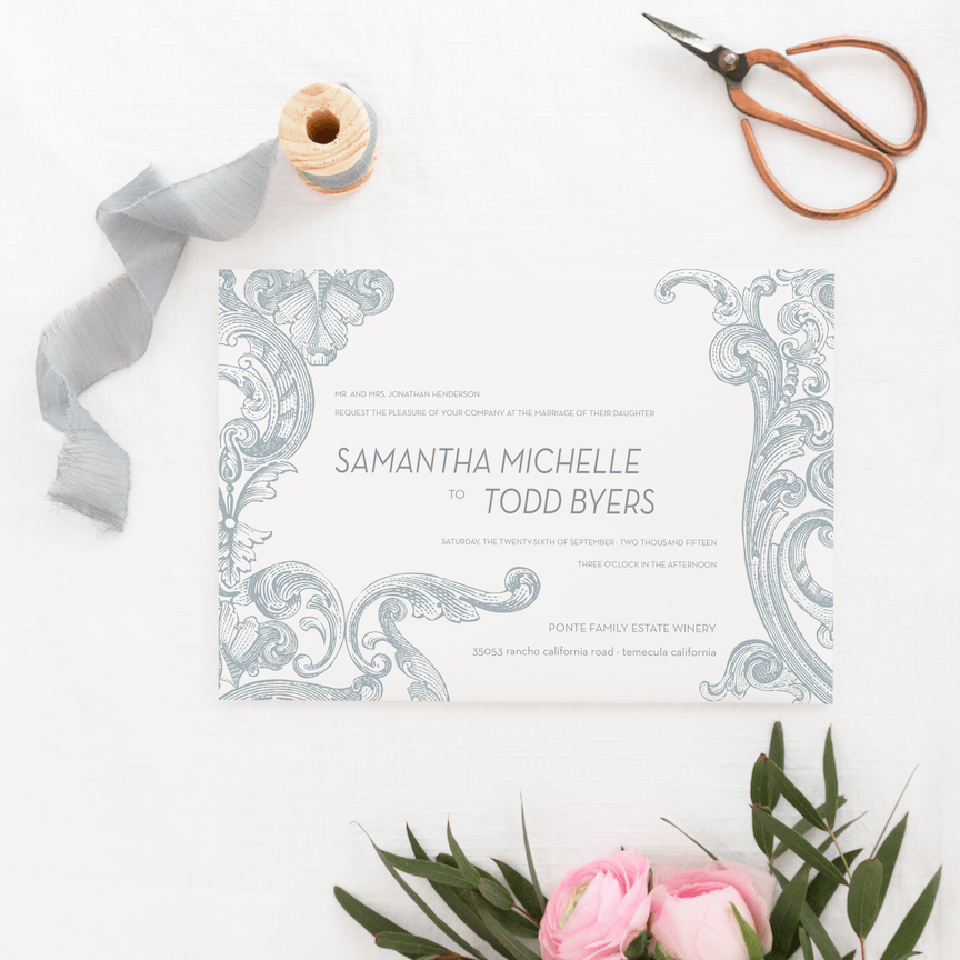 Wedding Invitation - Landscape Invitation | The Piper Wedding Collection