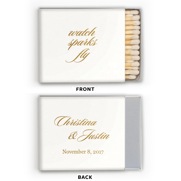 Matchbooks - Watch The Sparks Fly Personalized Matchbooks