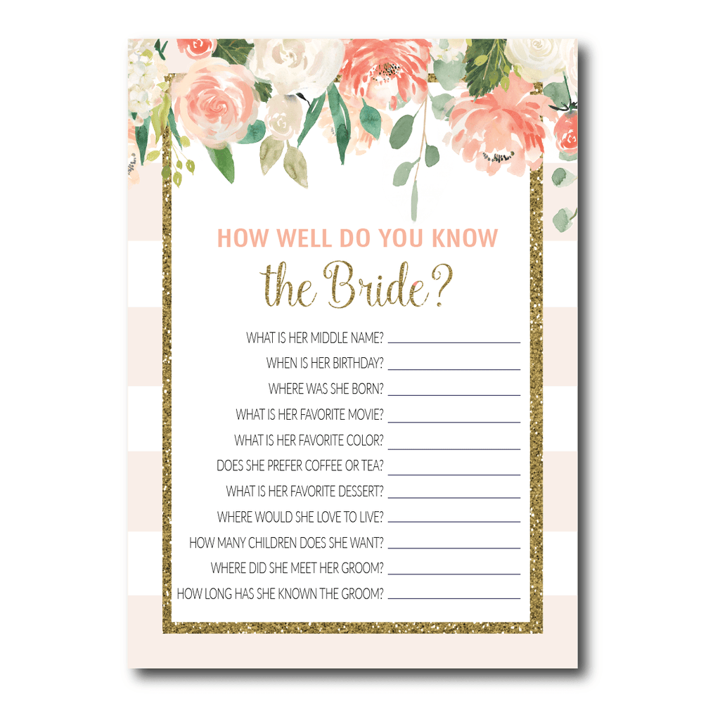 Cream Floral Bride Quiz