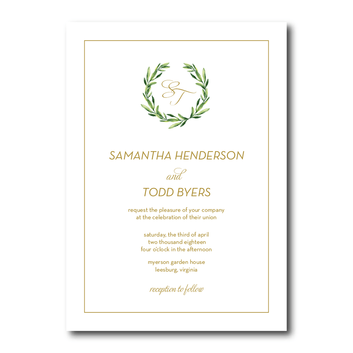 Wedding Invitation - Invitation | The Piper Wedding Collection