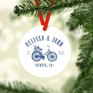 Ornament - Bicycle Just Married Christmas Ornament