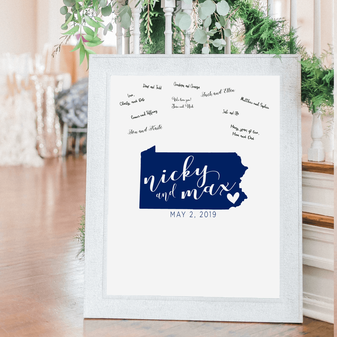 Welcome Prints - State Love Personalized Guestbook Print Sign