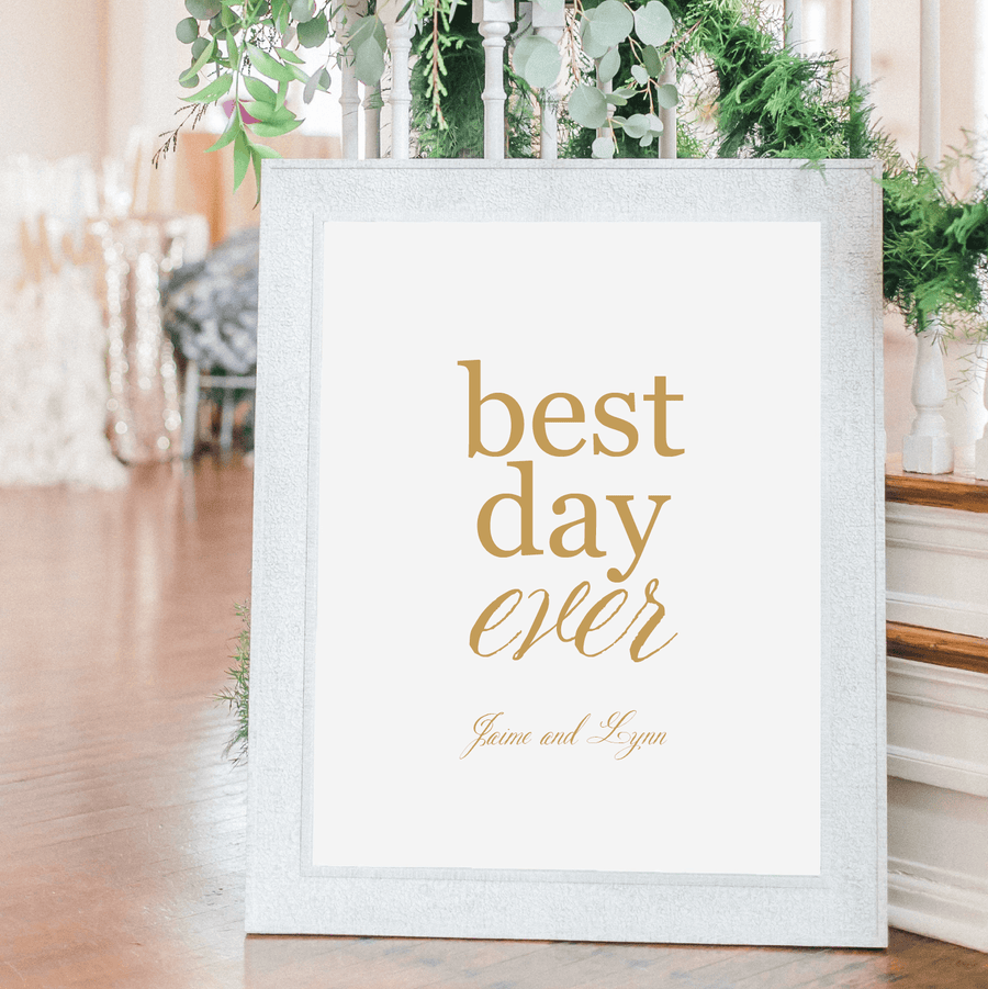 Welcome Prints - Best Day Ever Personalized Guestbook Print Sign