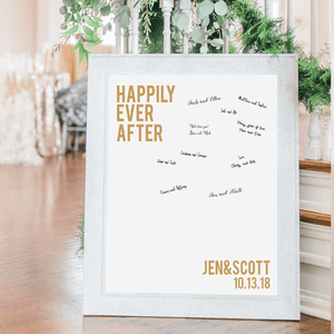 Welcome Prints - Happily Ever After Personalized Guestbook Print Sign