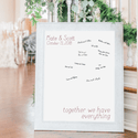 Together We Have Everything Personalized Guestbook Print Sign
