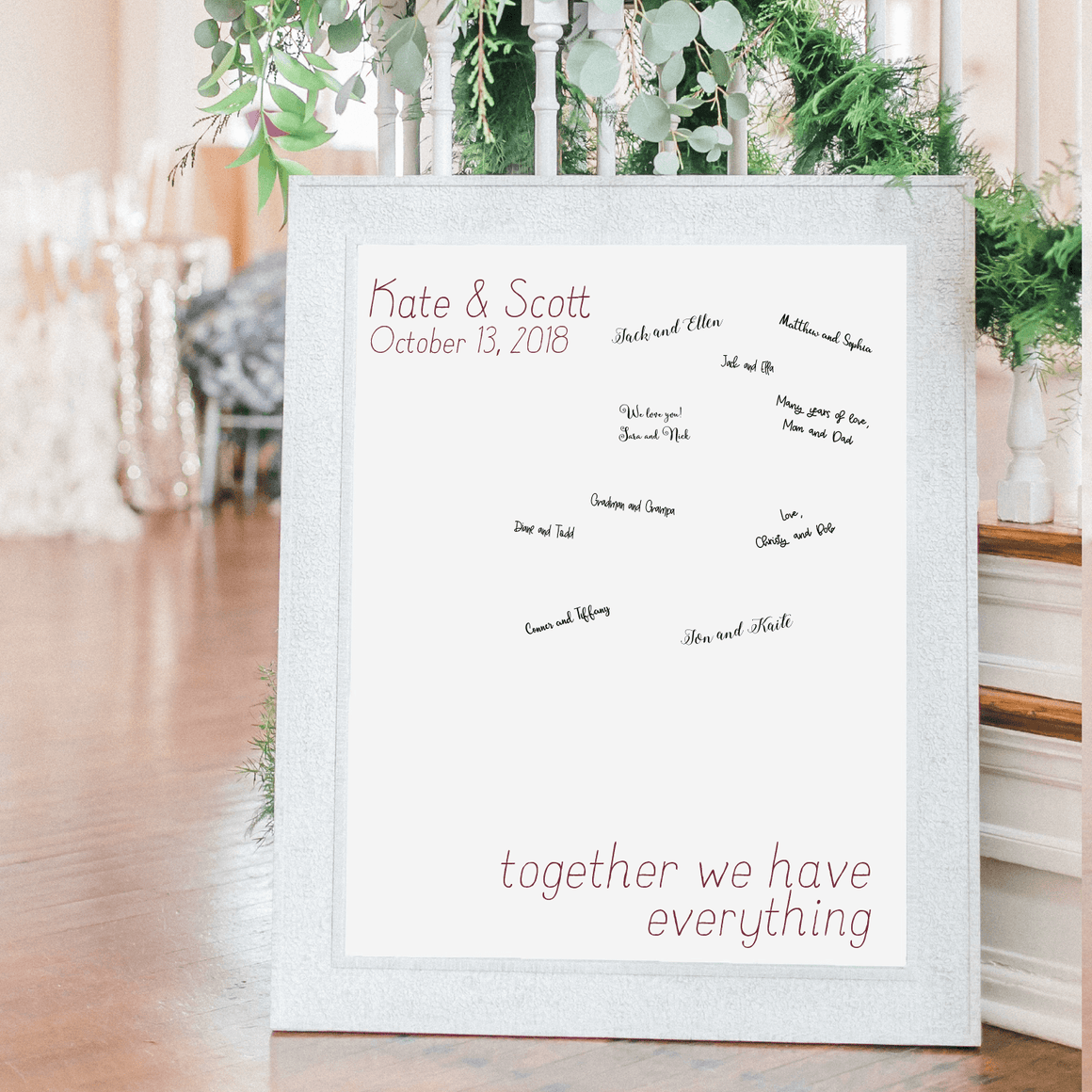 Welcome Prints - Together We Have Everything Personalized Guestbook Print Sign
