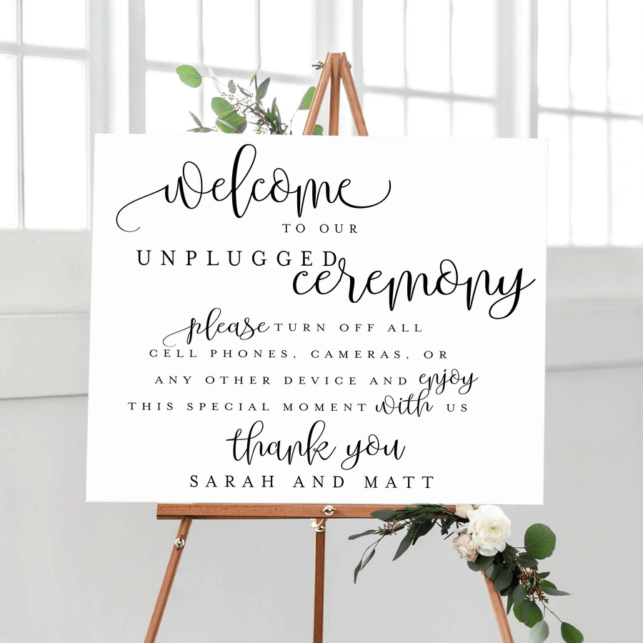 Welcome Prints - Unplugged Wedding - Wedding Welcome Print