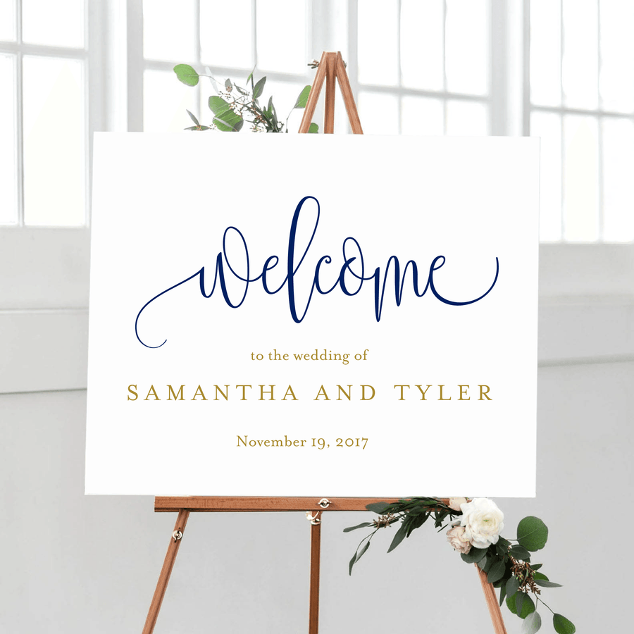 Welcome Prints - Welcome To Our Wedding Print