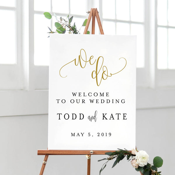 We Do - Wedding Welcome Print