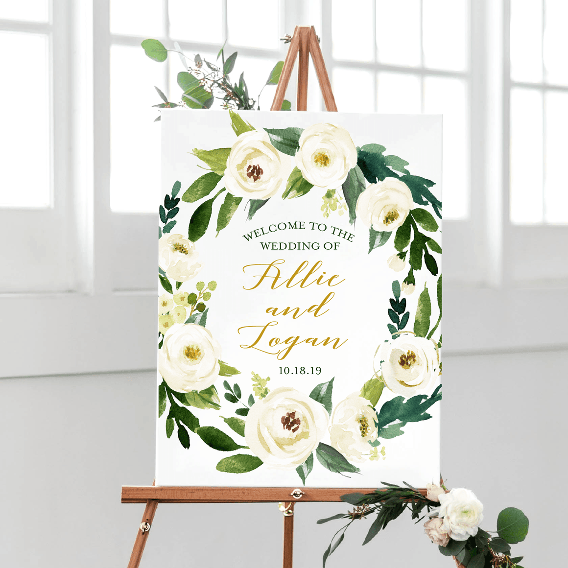 Welcome Prints - Wedding Welcome Print | Winter White Collection