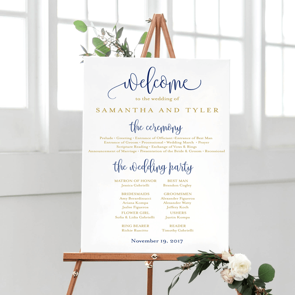 Wedding Welcome and Ceremony Print