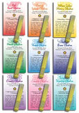 Essential oil chakra blends samples.