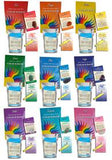 Colour Bath Spa Kits with colour bath, dead sea salts, gemstone, and essential oil sampler.
