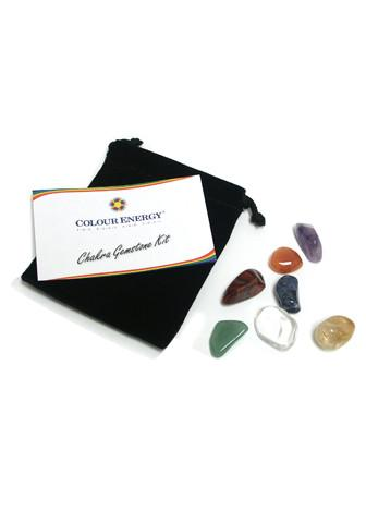 Crystal Gemstone Kit with Clear Quartz Crystals, Amethyst, Carnelian, Citrine, Green Aventurine, Red Tiger's Eye, Sodalite.
