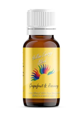 Yellow Solar Plexus Chakra Blend with Grapefruit and Rosemary essential oils blended in Jojoba Oil.