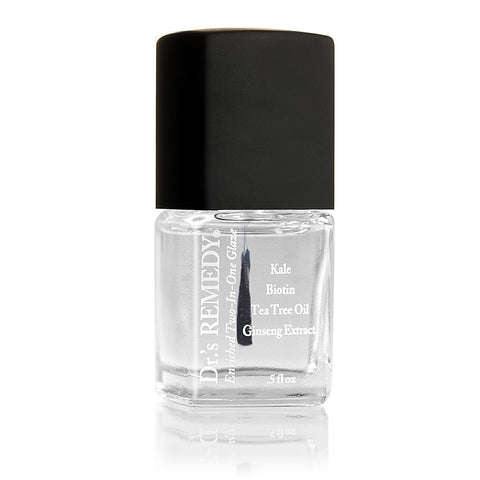Dr.'s Remedy Total Two-In-One Clear Enriched Nail Glaze.
