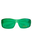Green glasses.