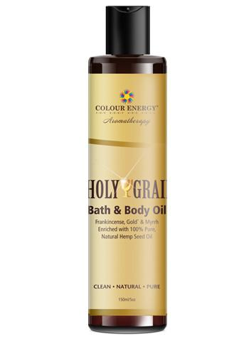 Holy Grail Bath and Body Oil with Frankincense and Myrrh.
