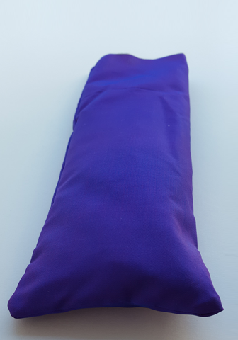 Indigo silk eye pillows.