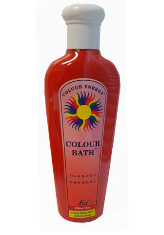 Colour Bath Bottle to turn bathwater red.