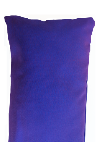 Violet silk eye pillows.