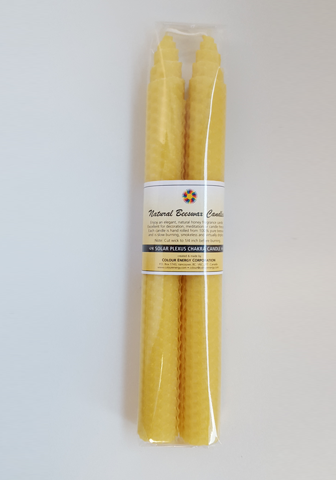 2 Yellow Beeswax Candles
