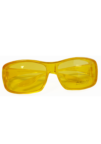Yellow glasses.