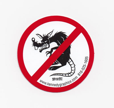 No Raggedy Ass Rats Hardhat Sticker