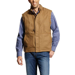 Ariat Men's FR Workhorse Insulated Vest Khaki #10024031