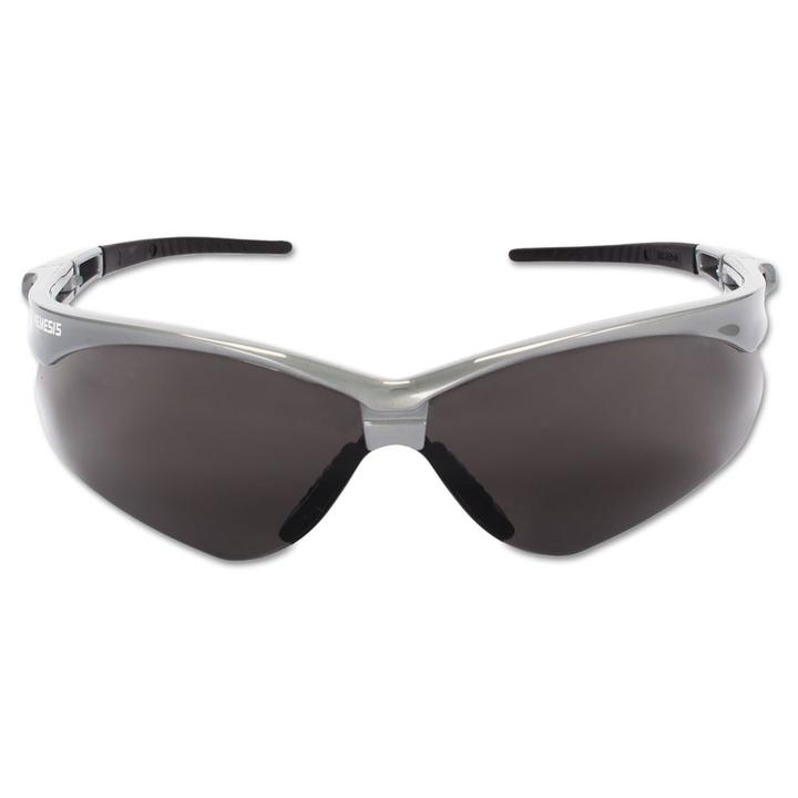 Nemesis Smoke Lens Silver Frame Safety Glasses #47383