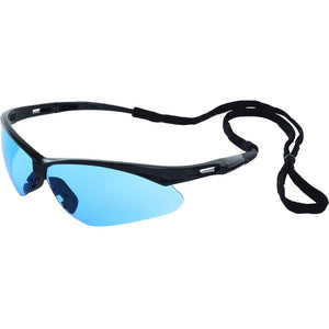 ERB Octane Black Light Blue Safety Glasses #15329
