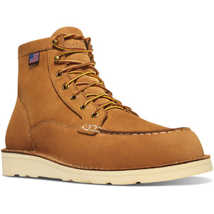 "Danner moc toe wedge sole 6"" lace up boot in wheat"