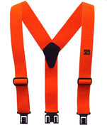 Perry Suspenders Men's Elastic Flame Retardant Hook End Work Suspenders, Orange